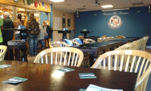 Inside the Wythenshawe Town clubhouse