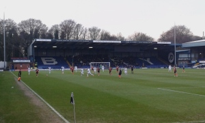 Match Action, and West Stand housing Luton's Fans
