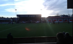 Sun shining over Moss Lane