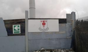 Glossop North End Badge Board