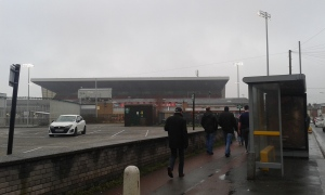 Main Stand on approach