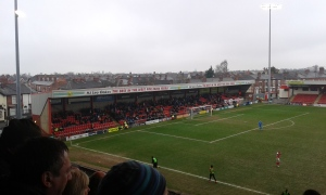 Gresty Road end.