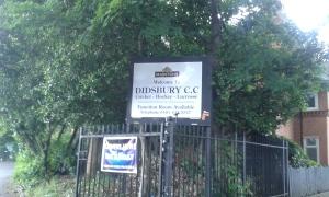 Arriving at Didsbury