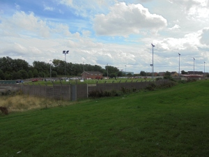 The Abbey Stadium from the neighbouring hill