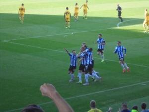 Turner celebrates with the Owls faithful