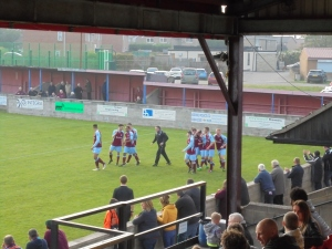 Emley's jubilation at 3-1...