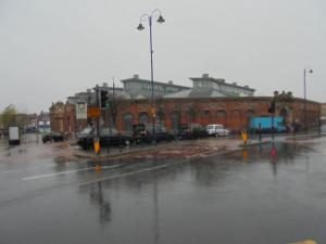 A sodden Ashton Town Centre