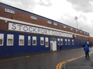 Arriving at Edgeley Park