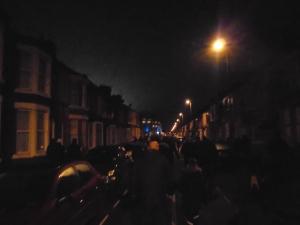 Heading down Gwladys Road