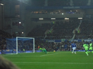 Cabellero makes the save...