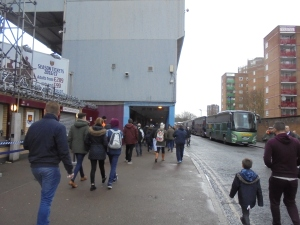 Heading to the East Stand