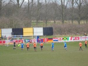 Kilheeney nets in front of Alfie's flags!