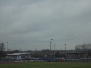 Approaching the Tameside Stadium