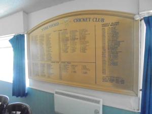 In the bar: Honours board