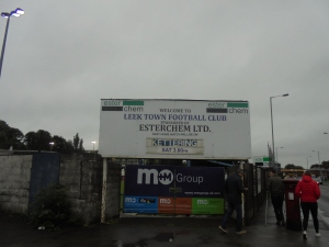 Arriving at Harrison Park