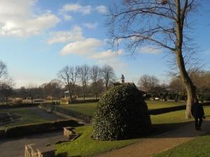 Burslem Park, with Vale Park just visible