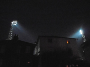 Post-match lights