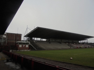 Main Stand. Still half-built 14 years later.