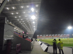 Main Stand at the close of the game.